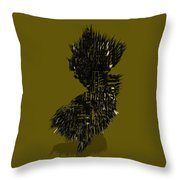 New Jersey Typographic Map 4b Throw Pillow
