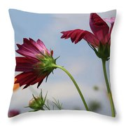 New Jersey Wildflowers In The Wind Throw Pillow