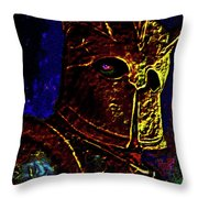 New Knight Of The King's Guard. Mask. Throw Pillow