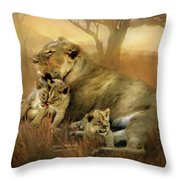 New Life Throw Pillow by Carol Cavalaris