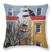 New London Art Throw Pillow