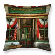 New Market General Store Throw Pillow