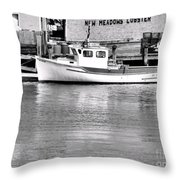 New Meadows Lobster Throw Pillow