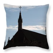 New Mexican Church Throw Pillow