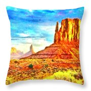 New Mexico Beautiful Desert - Pa Throw Pillow