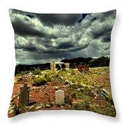 New Mexico Graveyard Throw Pillow