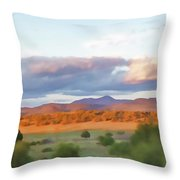 New Mexico Pastel Throw Pillow