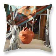 New Mexico Rabbits Throw Pillow