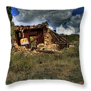 New Mexico Shack Throw Pillow