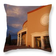 New Mexico State Capital Building Throw Pillow