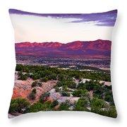 New Mexico Sunset Throw Pillow