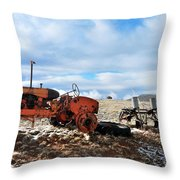 New Mexico Tractor Throw Pillow