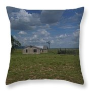 New Mexico Wind Mill Throw Pillow