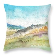New Morning- Watercolor Art By Linda Woods Throw Pillow