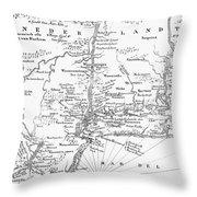 New Netherlands 1656 Throw Pillow