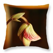 New Orchid Throw Pillow