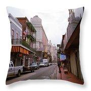 New Orleans Bourbon Street 2004 #45 Throw Pillow