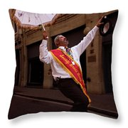 New Orleans Brass Band Leader Throw Pillow