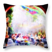 New Orleans Cafe Throw Pillow