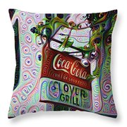 New Orleans - Clover Grill Throw Pillow