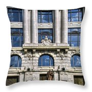 New Orleans Court Building Throw Pillow