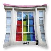 New Orleans Door 10 Throw Pillow