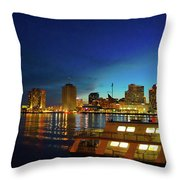 New Orleans Downtown Skyline Throw Pillow