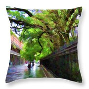 New Orleans French Quarter Paint  Throw Pillow