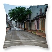 New Orleans French Quarter Special Morning Throw Pillow