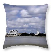 New Orleans From Algiers Point - In Color Throw Pillow