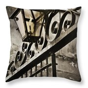 New Orleans Gaslight Throw Pillow by Beth Riser