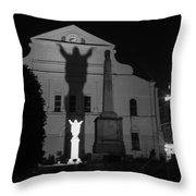 New Orleans Ghosts Throw Pillow