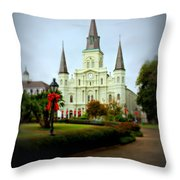 New Orleans Holiday Throw Pillow