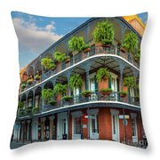 New Orleans House Throw Pillow