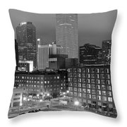 New Orleans In Black And Night Throw Pillow
