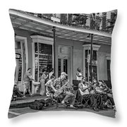 New Orleans Jazz 2 - Bw Throw Pillow