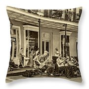 New Orleans Jazz 2 - Sepia Throw Pillow