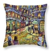 New Orleans Jazz Night By Prankearts Fine Art Throw Pillow