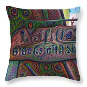 New Orleans - Lafittes Blacksmith Shop Sign Throw Pillow