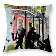 New Orleans Magic Throw Pillow