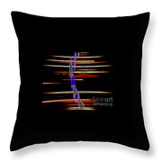 New Orleans Neon Frequency Native American Indan Abstract 3 Throw Pillow