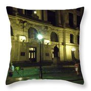 New Orleans Nights Throw Pillow
