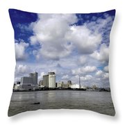 New Orleans Panoramic Throw Pillow