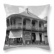 New Orleans Pharmacy Throw Pillow