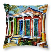 New Orleans Plain And Fancy Throw Pillow