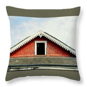 New Orleans Rooftop Architecture Fish Scales And Gingerbread Throw Pillow