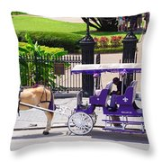 New Orleans Royal Carriage Throw Pillow