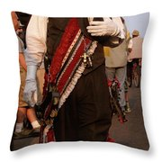 New Orleans Second Line Band Conductor Throw Pillow