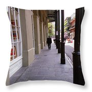 New Orleans Sidewalk 2004 Throw Pillow