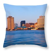 New Orleans Skyline From Algiers Point Throw Pillow